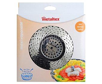 METALTEX Canastilla vaporera o cesto de cocción al vapor de acero inoxidable, modelo Vaporette254310, hasta 19 centímetros 1 Unidad