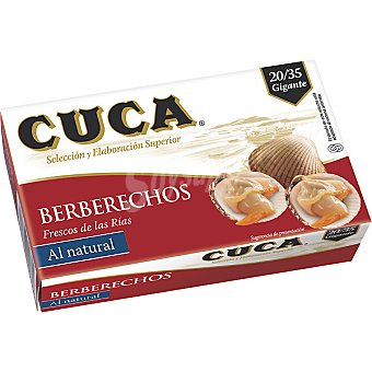 Cuca Berberechos al natural 25/35 piezas Lata de 63 g neto escurrido