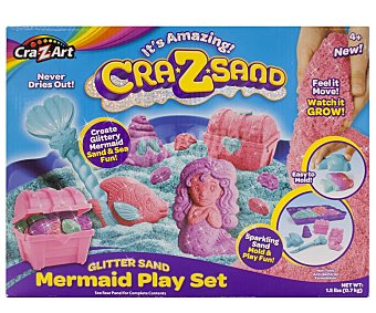 CRAZART Mermaid arena mágica Juego Mermaid Pay Set para crear y moldear sirenas con arena mágica brillante CRA-Z-ART.