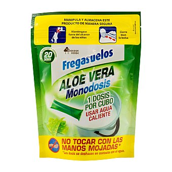Bosque Verde Fregasuelos aloe vera bolsitas hidrosolubles Paquete 180 g, 20 bolsitas