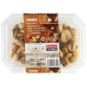 Eroski Cócktel de frutos secos Clásico Tarrina 165 g