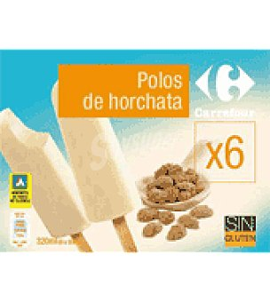 Carrefour Polos horchata 6 ud