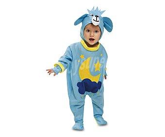 My other me Disfraz azul de osito con dibujo de luna para bebé, talla 7-12 meses VIVING COSTUMES  1 Unidad