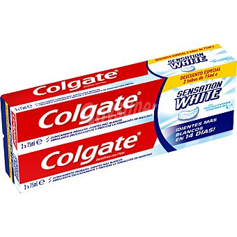 Colgate Pasta dentífrica Sensation White Pack 2 tubo 75 ml