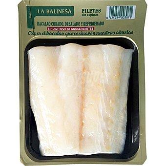 La balinesa Filetes de bacalao desalado bandeja 150 g