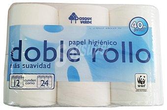 Bosque Verde Papel higienico doble rollo Paquete 12 u