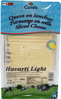 Havarti Queso condis light lonchas 200 GRS