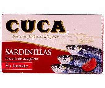 Cuca Sardinillas en tomate Lata 63 g neto escurrido