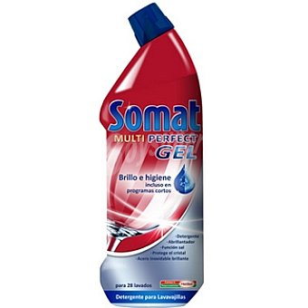 Somat Detergente lavavajillas Multi Perfect gel Botella 28 dosis