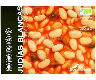 Soria Natural Judías blancas estofadas de cultivo ecológico 300 gramos