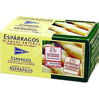 EL CORTE INGLES Espárragos blancos enteros muy gruesos D.O. Navarra 13-16 piezas  lata 500 g neto escurrido