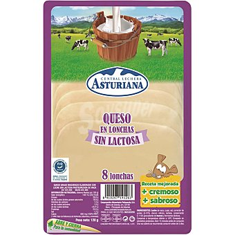 asturiana Queso elaborado con leche de vaca en lonchas sin lactosa envase 120 g envase 120 g