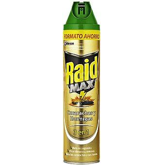 Raid insecticida para cucarachas y hormigas 3 en 1 Max spray 600 ml