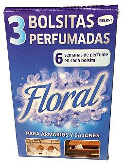 Bosque Verde Ambientador bolsita perfumada floral Caja 3 uds