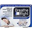 Tiras nasales clásicas para la congestión nasal y antirronquidos caja 30 unidades 30 unidades Breathe Right