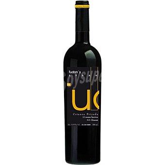TUDON ' S vino tinto syrah crianza privada 12 meses en barrica D.O. Almansa botella 75 cl