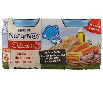 Naturnes Nestlé Tarrito de verduritas de la huerta con cordero Pack de 2x200 g