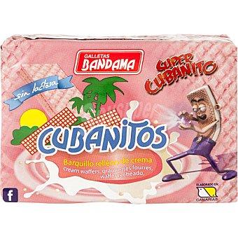 Bandama Cubanitos, galletas de barquillo recubiertas de fresa Estuche 90 g