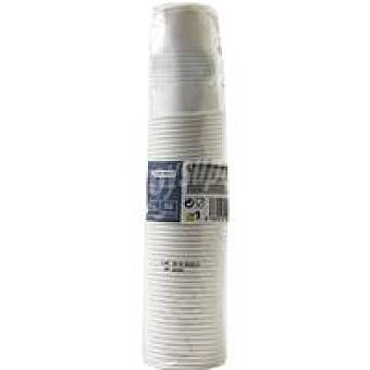 Eroski Vaso blanco 220 cc Paquete 50 unid