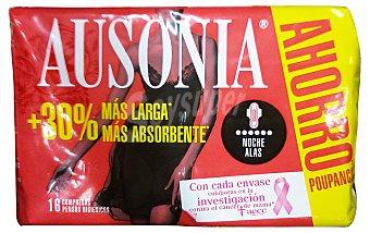 Ausonia Compresa absorcion noche super ultra plegada alas Paquete 16 unidades