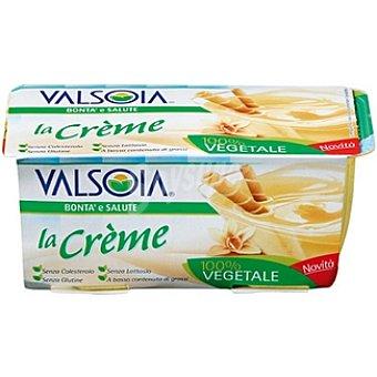 VALSOIA La Crème postre cremoso de vainilla 100% vegetal Pack 2 envase 115 g