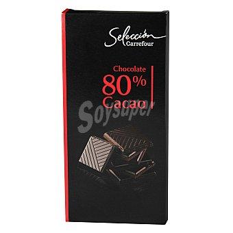 Carrefour Selección Chocolate extra negro 80% 100 g