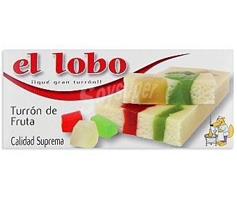 EL LOBO Turrón de fruta sin gluten 300 gramos