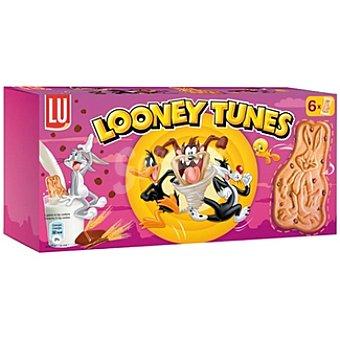 LU Looney Tunes Galletas de cereales con pepitas de chocolate Caja 205 g