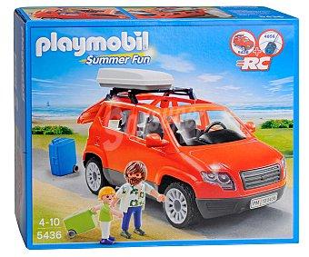 Playmobil Playset Monovolumen Coche Familiar con 2 Figuras y Accesorios, Modelo 5436, Summer Fun 1 Unidad