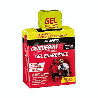 Enervit Sport Gel energetico con cafeina sabor limon para deportistas Paquete 3 u