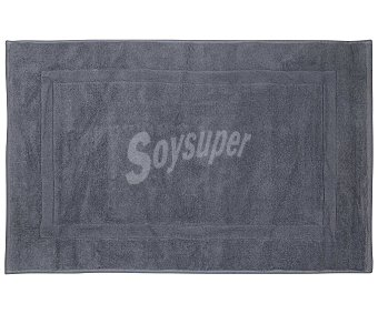 Actuel Alfombra de baño 100% algodón, /m² de densidad, 50x80cm., color gris actuel 1100 g