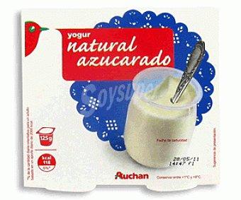 Auchan Yogur Natural Azucarado Leche Entera 4x125g
