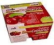 Gelatina con extra de colágeno y zumo de arándanos rojos 4 x 110 g Yelli Frut
