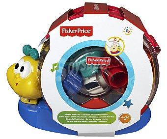FISHER PRICE Caracol Musical con Bloque Encajables y Apilables 1 Unidad