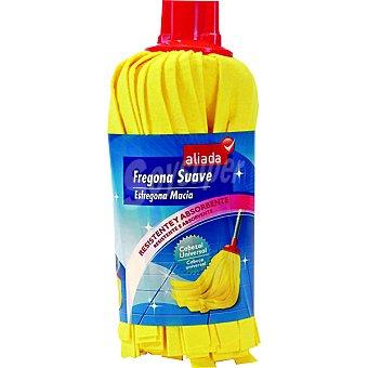 Aliada Fregona amarilla suave resistente y absorbente Paquete 1 unidad