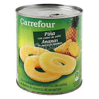 Carrefour Piña con zumo de piña en rodajas 490 g