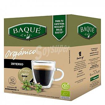 Dolce Gusto Nescafé Café intenso ecológico en cápsulas Baqué compatible con 10 unidades de 7 g