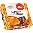 Crema catalana con bolsita de azúcar caramelizado sin gluten Envase 155 g Dhul