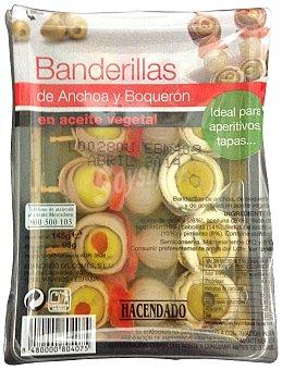 Hacendado Banderillas de anchoas y boquerones Paquete 5 u