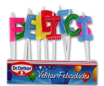 "Dr. Oetker Velitas letras ""felicidades"" 11 unidades"