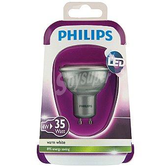Philips Gris 4 W (35 W) lámpara led blanco cálido GU10 Esférica 1 unidad