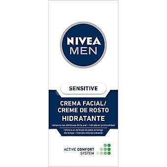 Nivea For Men Crema facial hidratante Active Confort Sensitive Tubo 75 ml