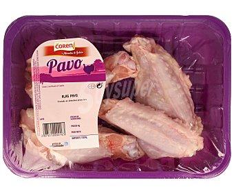 Coren Bandeja de alitas de pavo sin punta 500 gramos aproximados
