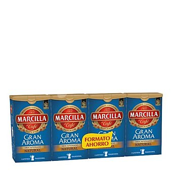 Marcilla Café descafeinado natural pack de 4x200 g