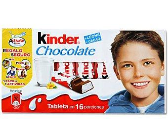 Kinder Chocolate con leche extrafino relleno de crema rica en leche 200 gramos