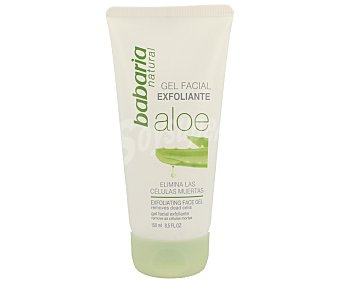BABARIA Gel exfoliante facial aloe vera piel tersa y suave tubo 150 ml