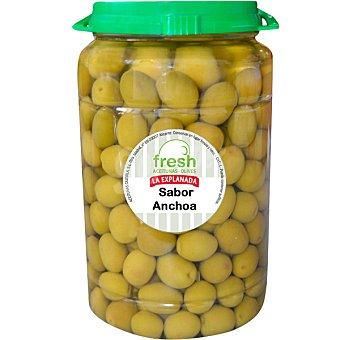 La Explanada Aceitunas manzanilla con hueso sabor anchoa Fresh Envase 800 g