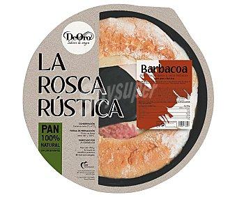 De Oro Rosca de pan rústico rellena de pollo, queso y salsa barbacoa 480 g