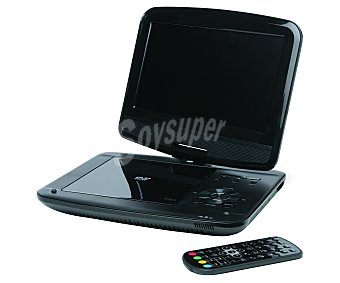 "QILIVE 841606 Reproductor DVD portátil Multiformato, pantalla 9"" giratoria, USB"