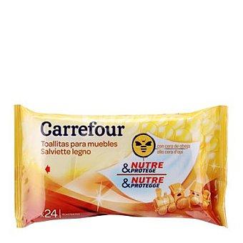 Carrefour Toallitas para Muebles con Cera de Abeja 24 ud